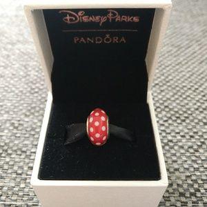 Pandora Disney Minnie Signature Look Murano Charm